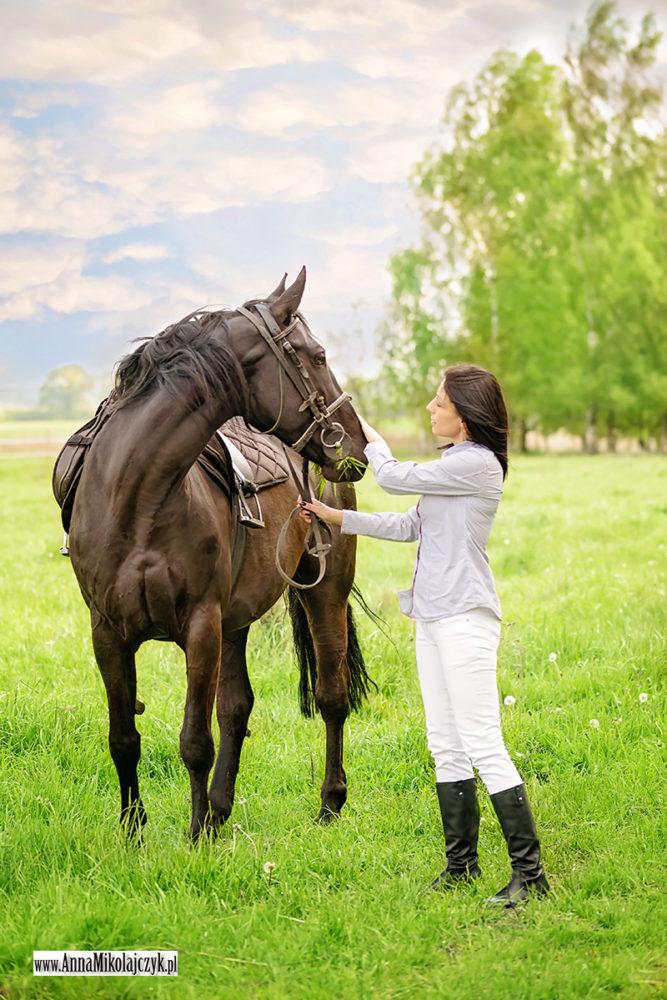 sesja z koniem fot. Anna Mikołajczyk