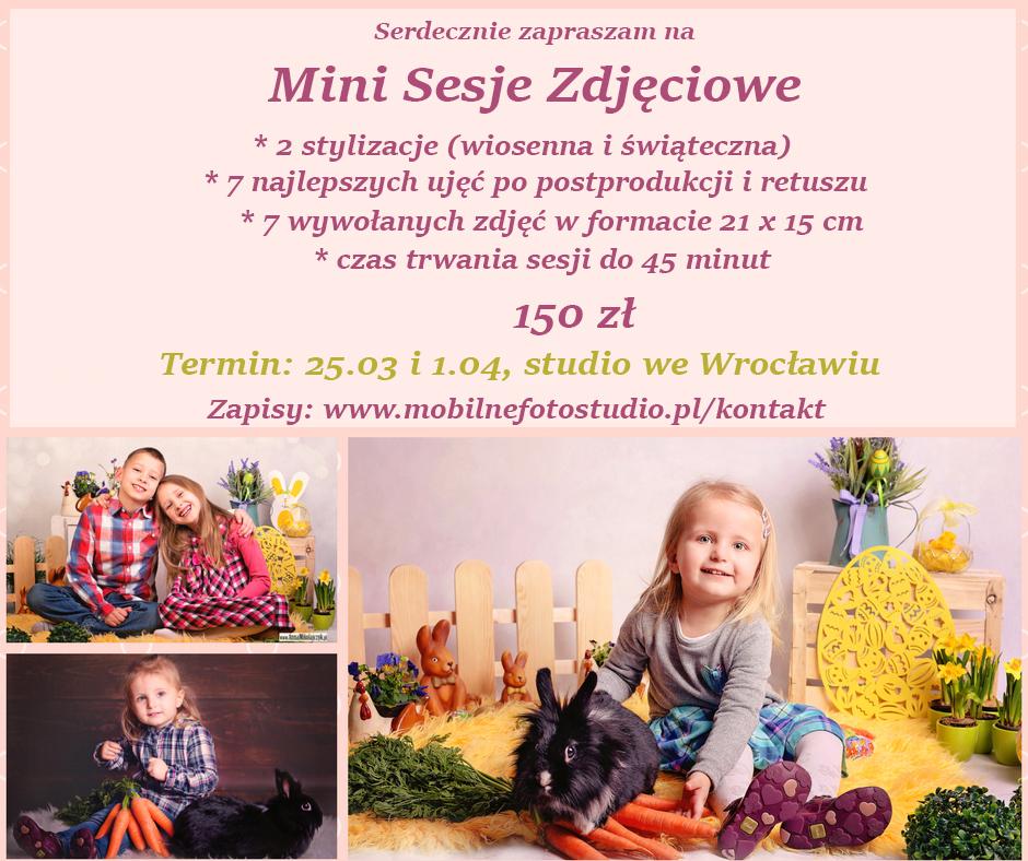 mini sesja wiosenno - świąteczna Wrocław fot. Anna Mikołajczyk